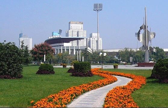 新乡市体育中心外景